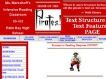 Text Structure Text Features