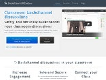 Backchannel Chat - A safe and secure realtime discussion tool designed for educational use.