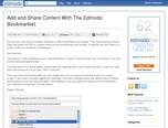 Add and Share Content With The Edmodo Bookmarklet