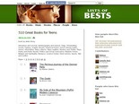 510 Great Books for Teens on Lists of Bests