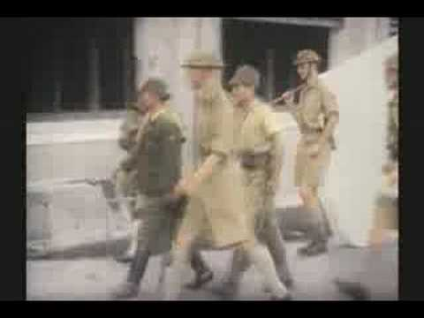 WW II SINGAPORE FALLS 3 of 3 1942 RARE COLOR FILM