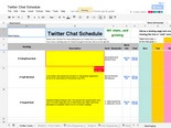 Twitter Chat Schedule/Hash Tags