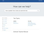 Update your Edmodo profile