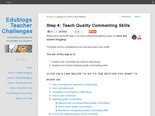 Blog: Teach Quality Commenting Skills