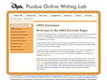 Purdue OWL Writing Exercises