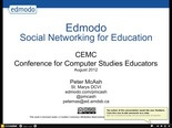 Edmodo-CEMC2012 | SlideRocket, Online Presentation Tools