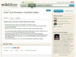 Clear Your Browser's Cacheion editor - wikiHow