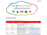 Presenter Resources - Google Apps for Education California Summit