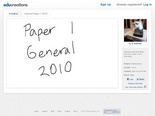General Paper 1 2010 | Educreations
