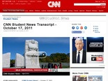 CNN Student News Transcript - October 17, 2011