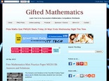 Gifted Mathematics: Free Mathematics Mini Practice Paper MS2013B: Answers and Solutions