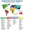 Kids' Planet SPECIES Animal Fact Sheets