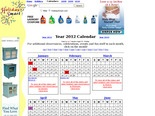 Year 2012 Calendar of Holidays, Events and Observances