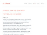Student Tips For Teachers: Twitter and Instagram