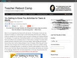 10+ Getting to Know You Activities for Teens & Adults : Teacher Reboot Camp