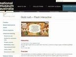 National Museum of Australia - Gold rush – Flash interactive
