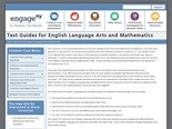 Test Guides for English Language Arts and Mathematics