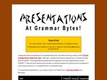 Grammar PowerPoint Presentations at Grammar Bytes!