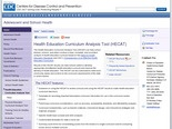 CDC - HECAT - Adolescent and School Health