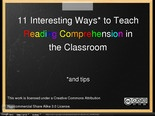 11 Interesting Ways to Teach Reading Comprehension in the Clas
