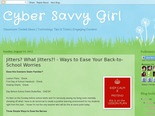 Cyber Savvy Girl: Jitters? What Jitters?! - Ways to Ease Your Back-to-School Worries