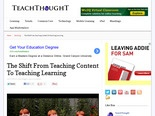 The Shift From Teaching Content To Teaching Learning