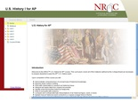 NROC Advanced Placement  U.S. History I