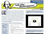 Talk Like Shakespeare - Home